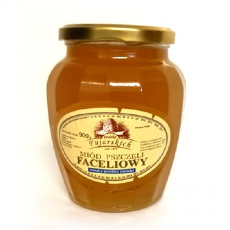 Miód pszczeli faceliowy słój o wielkości 900 g