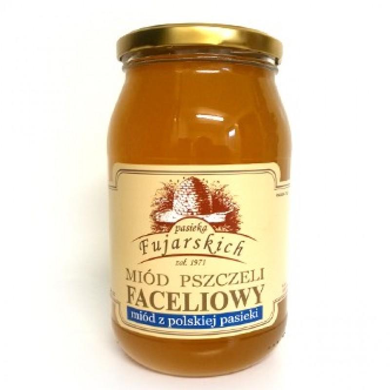 Miód pszczeli faceliowy słój o wielkości 1250 g