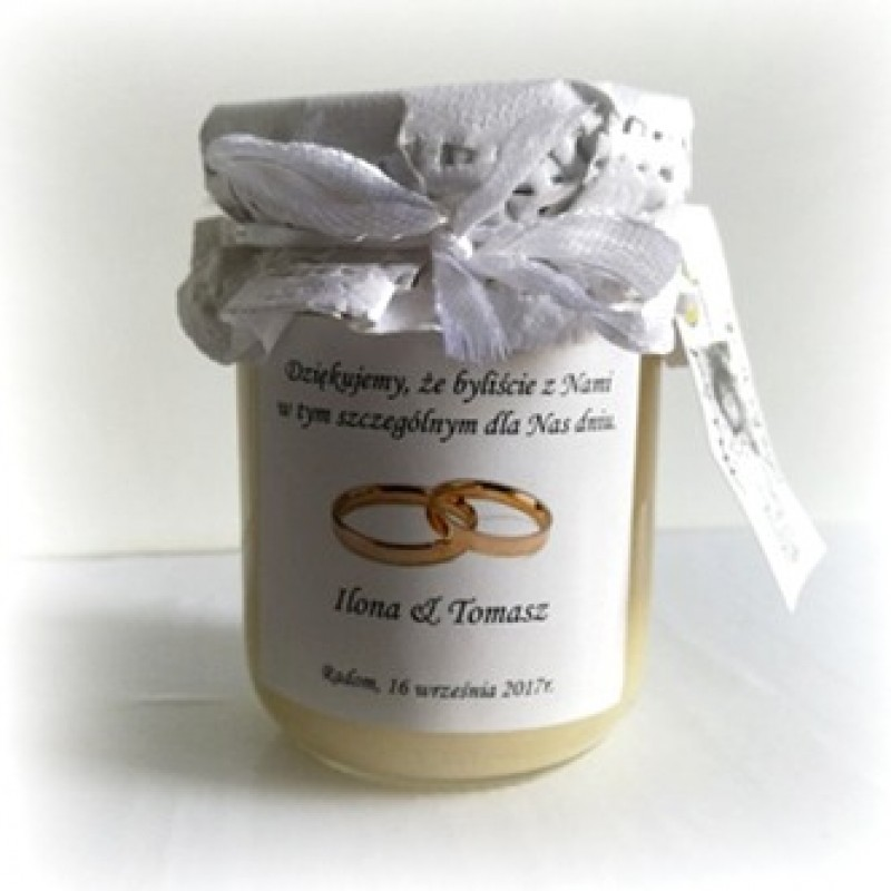 Personalizowany słoiczek z miodem pszczelim